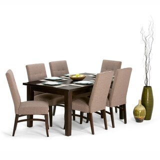 WYNDENHALL Hawthorne Upholstered 7-piece Dining Set