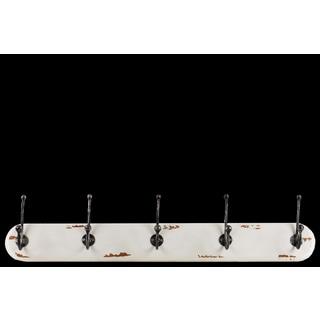 Urban Trends Collection Brown Wood/Metal 5-hook Wall Hanger