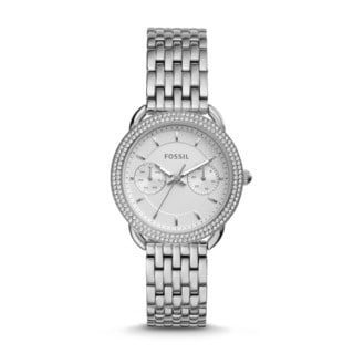 Fossil Women's ES4054 Tailor Multi-Function Silver Dial Stainless Steel Bracelet Watch