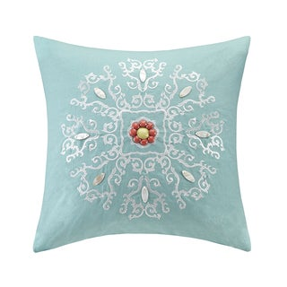 Echo Design Cyprus Cotton Square Throw Pillow
