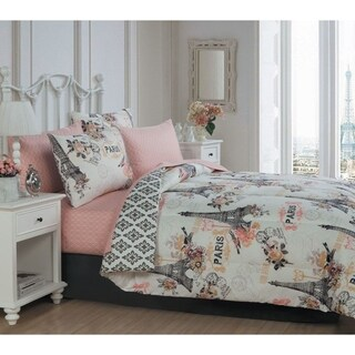 Avondale Manor Cherie 8-piece Paris Themed Bed in a Bag Set