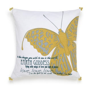 Under the Canopy Metamorphosis Earth Goddess Meadow Green Decorative Throw Pillow