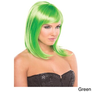 Solid Color Doll Wig (Option: GREEN)