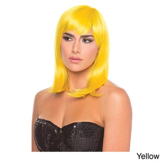 Solid Color Doll Wig (Option: YELLOW)