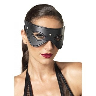 Leg Avenue Black Polyester Studded Eye Mask