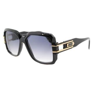 Cazal Cazal 623 001SG Vintage Black Plastic Square Grey Gradient Lens Sunglasses