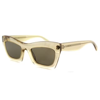 Celine CL 41399 HAM Eva Champagne Plastic Cat-Eye Brown Lens Sunglasses