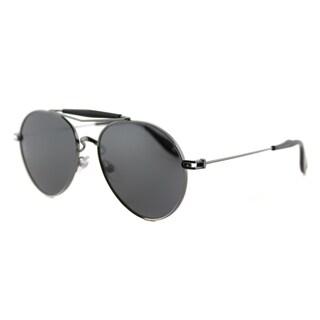 Givenchy GV 7012 KJ1 Dark Ruthenium Metal Aviator Grey Polarized Lens Sunglasses