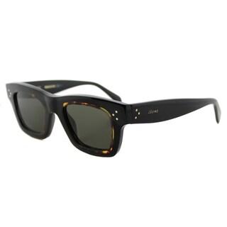 Celine CL 41396 T7D Gaby Black Havana Plastic Rectangle Brown Lens Sunglasses