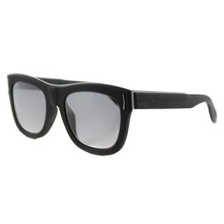Givenchy GV 7016 8VW VK Rubber Black Plastic Rectangle Grey Gradient Lens Sunglasses