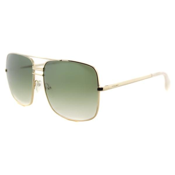 99f92bb3f Celine CL 41808 J5G NC Gold Metal Aviator Green Gradient Lens Sunglasses