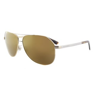 Dolce and Gabbana DG 2144 129713 Gold Metal Aviator Brown Gradient Lens Sunglasses