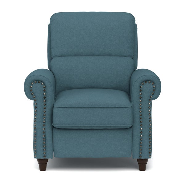 ProLounger Caribbean Blue Linen Push Back Recliner Chair - Free Shipping Today - Overstock.com - 19230229  sc 1 st  Overstock.com & ProLounger Caribbean Blue Linen Push Back Recliner Chair - Free ... islam-shia.org
