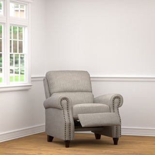 ProLounger Dove Grey Linen Push Back Recliner Chair