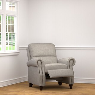 Clay Alder Home Klingle ProLounger Dove Grey Linen Push Back Recliner Chair