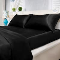 Silver Orchid Wyman Super Soft Deep Pocket 4-piece Satin Sheet Set