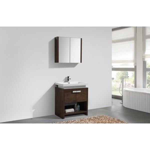 Shop kubebath levi 30 inch modern single sink bathroom for Levi 29 5 single modern bathroom vanity set