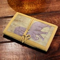 Handmade Paper 'Jungle Elephants' Journal (India)
