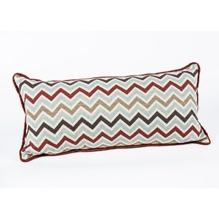 Multicolored Chevron Corded Rectangle Decorative Pillow