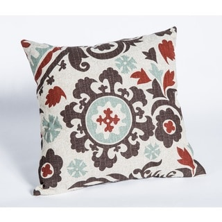 Suzani Nile Denton 17-Inch Square Patterned Decorative Pillow