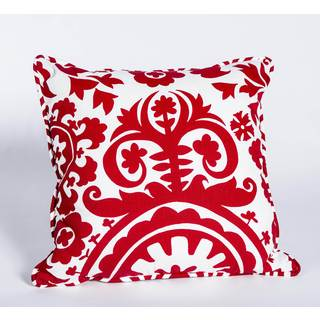 Suzani Lipstick Corded 17-Inch Square Decorative Pillow