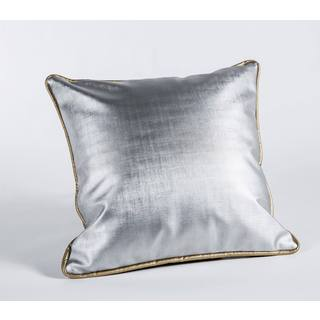 Shimmer Silver with Gold Cord 17-Inch Square Pillow