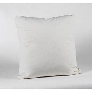 Saxony Natural Knife Edge 22-Inch Square Decorative Pillow