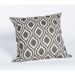 Nichole Grey Linen Blend 19-Inch Square Decorative Pillow
