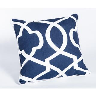 Morrow Blue Cotton 17-Inch Square Pillow