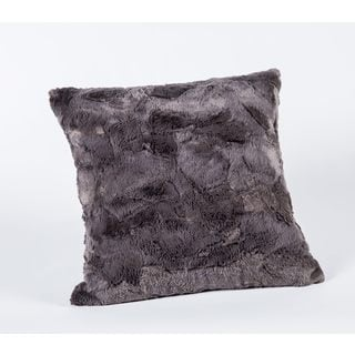 Luxe Plush Charcoal 17-Inch Square Pillow
