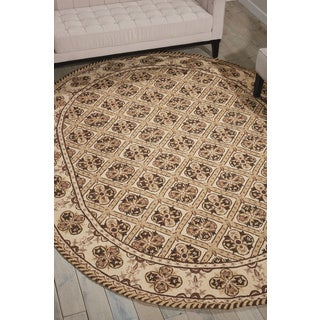 Nourison Country Heritage Brown Area Rug (7'6 x 9'6 Oval)