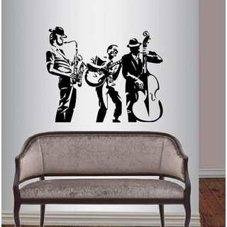 Vinyl Decal Jazz Band Musicians Music Instruments Wall Sticker