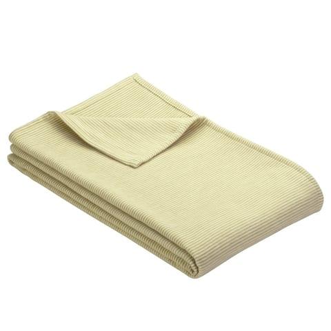 IBENA Cotton Pure Mini Stripe Throw