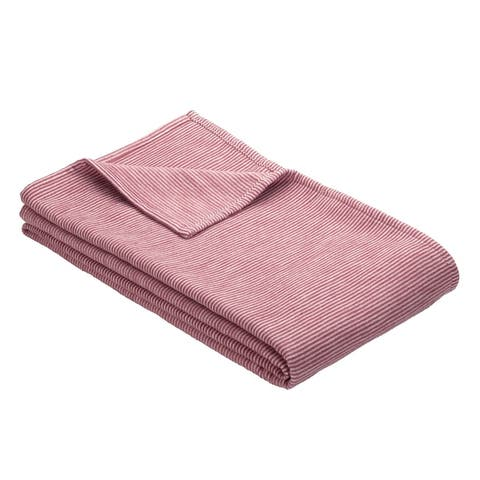 IBENA Cotton Pure Mini Stripe Throw