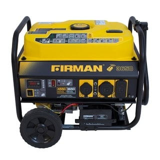 Firman Power Equipment P03603 Gas-powered 3650/4550 Watt Portable Remote Start Generator with Wheel Kit