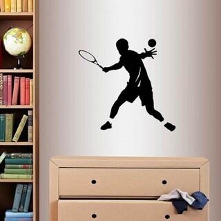 Vinyl Decal Team Tennis Player Sports Boy Guy Wall Sticker