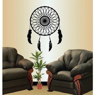Vinyl Decal Dream Catcher Feathers Bedroom Wall Sticker