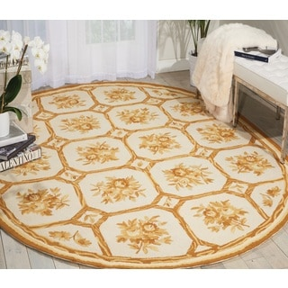 Nourison Country Heritage Ivory/Yellow Area Rug (7'6 x 9'6 Oval)