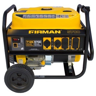 Firman Power Equipment P05702 5,700/7,100-watt Portable Remote Start Gas Generator