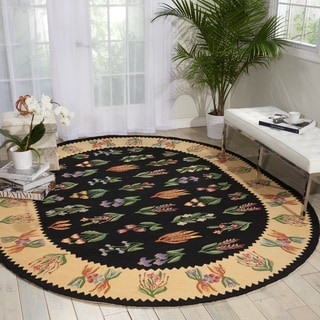 Nourison Country Heritage Black Area Rug (7'6 x 9'6 Oval)