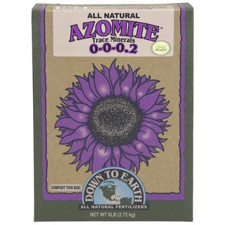 Down to Earth 07804 6-pound All Natural Azomite Trace Minerals Powder 0-0-0.2