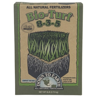 Down to Earth 07833 6-pound Bio-Turf All Natural Fertilizer 8-3-5