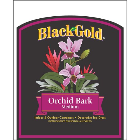 Black Gold 1411402 8.00QTP 8 Quart Fine Orchid Bark Mix
