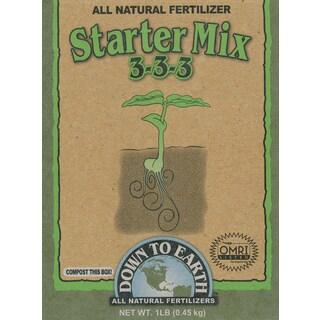 Down to Earth 17836 1-Pound 3-3-3 Starter Fertilizer Mix