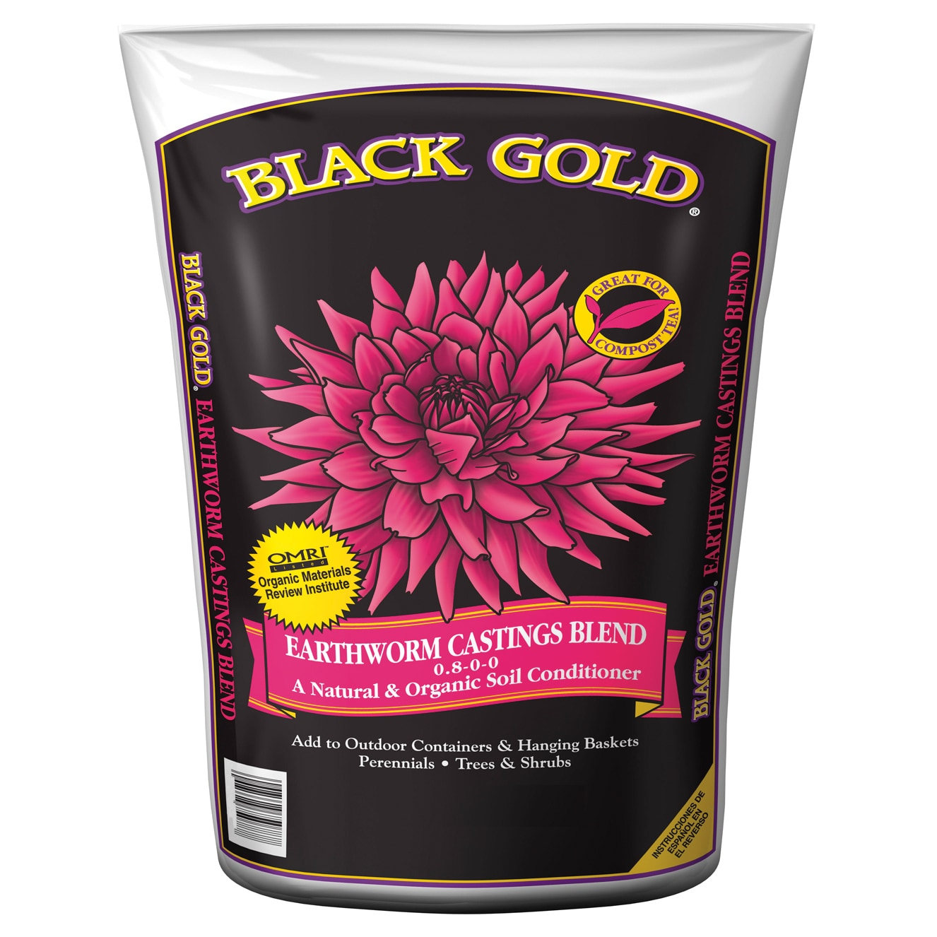 Black Gold 1490302 8 QT P 8 Quart Earthworm Castings Blen...