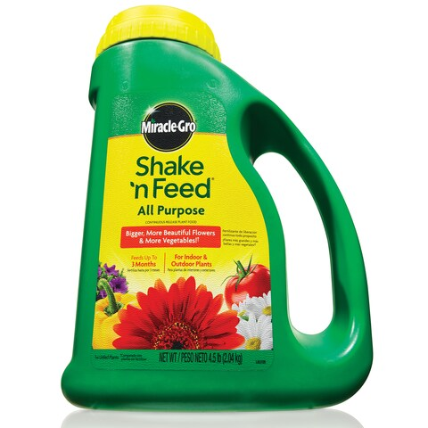 Miracle Gro 110569 4.5-pounds Shake n feet Feed All Purpose Plant Food 12-4-8