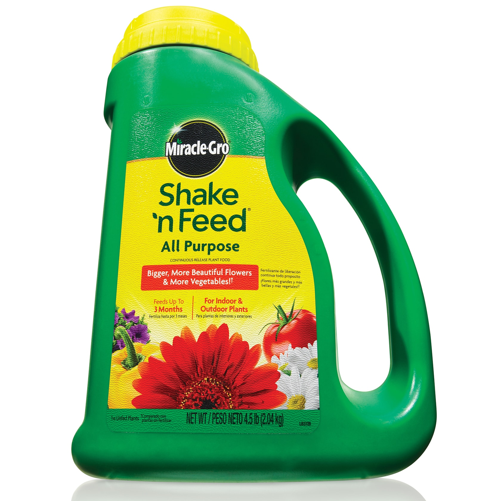 Miracle Gro 110569 4 5 Pounds Shake N Feet Feed All Purpose Plant Food 12 8