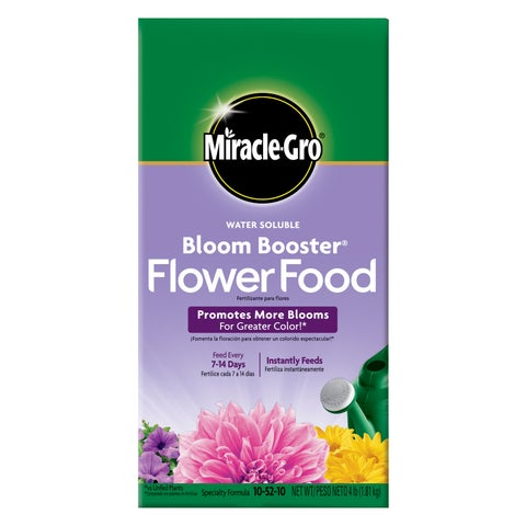 Miracle Gro 146002 4-pound Water Soluble Bloom Booster Flower Food 10-52-10