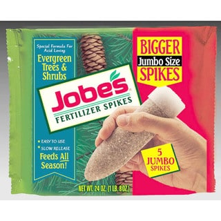 Jobes 1001 5 Pack Evergreen Fertilizer Spikes 13-3-4