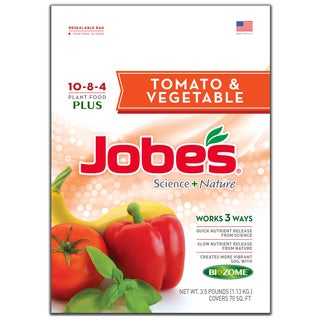 Jobes 59036 3-1/2-pound Tomato & Vegetable Synthetic Fertilizer